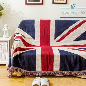 Classic Brits Cotton Throw Blankets