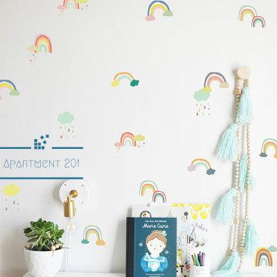 Doodle Rainbow Wall Decal Set - apt201