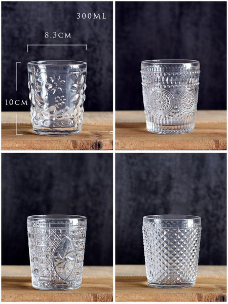 Vintage Patterned Press Glasses - Apartment 201