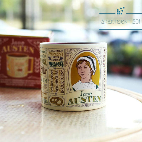 Jane Austen Famous Quotes Mug - apt201