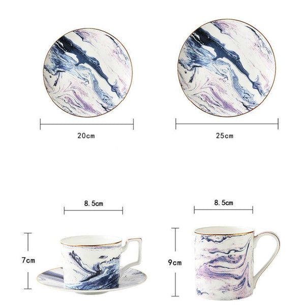Amsterdam Dream Marble Dinnerware Set - Apartment 201