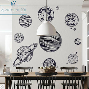 Solar System Wall Decal - apt201