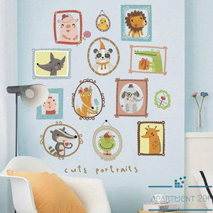 Animal Portraits Wall Decal - Apartment 201