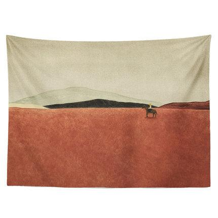 Red Meadow Wall Tapestry - Apartment 201