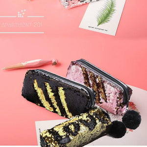 Bling Bling Sequin Pencil Case - apt201