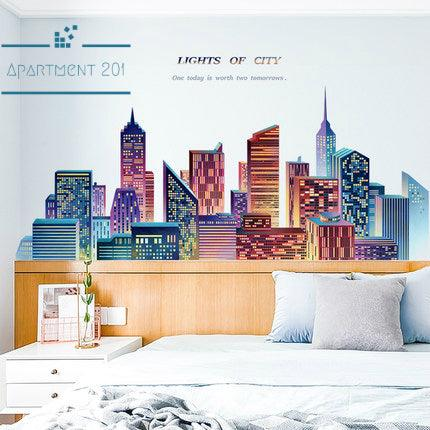 Lights of City Wall Decal - apt201