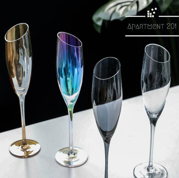 Bubbly Champagne Flutes - Apartment 201