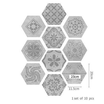 Rustic Styled Hexagonal Tile Sticker - Apartment 201