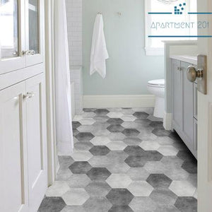 Rustic Styled Hexagonal Tile Sticker - apt201