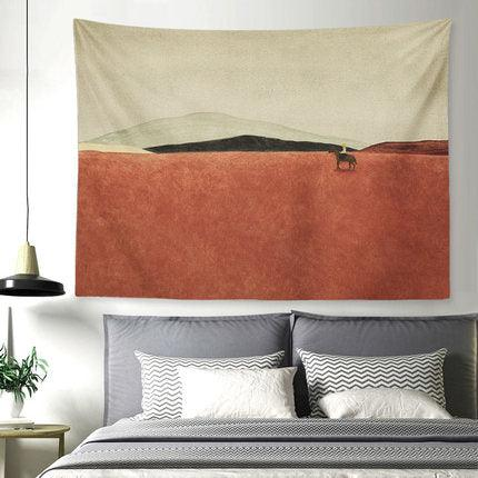 Red Meadow Wall Tapestry - apt201