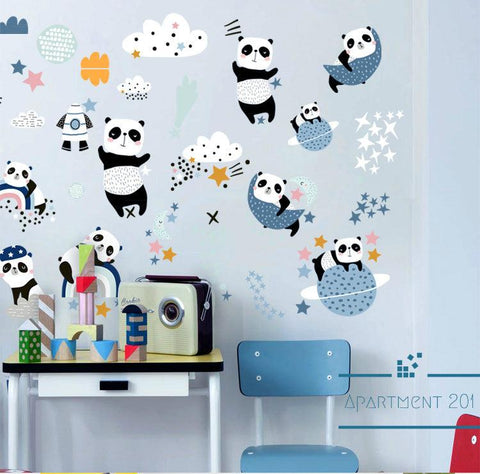 Space Panda Wall Decal - apt201