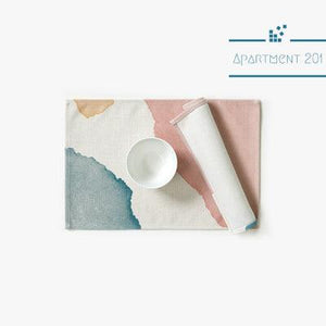 Pastel Watercolor Placemat Set of 2 - Apartment 201