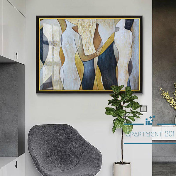 Abstract Life Motion Canvas Wall Art - Apartment 201