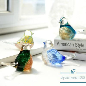 Chirpy Bird Blown Glass Figurine - Apartment 201