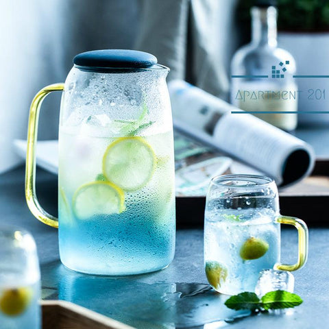 Summer Fresh Ombre Blue Water Jug Set - Apartment 201