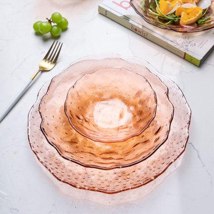 Coral Peony Glass Dinnerware - Apartment 201