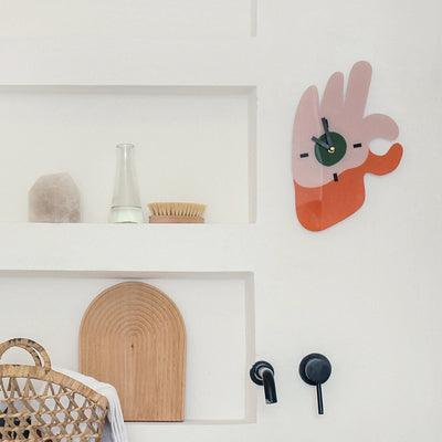 Okay Sign Wall Clock - Apartment 201