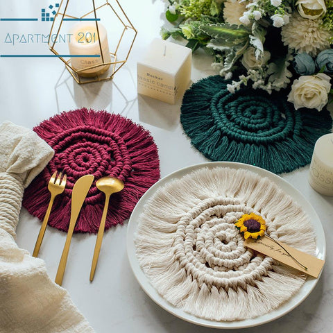 Boho Macrame Coasters Set of 4 - Apartment 201