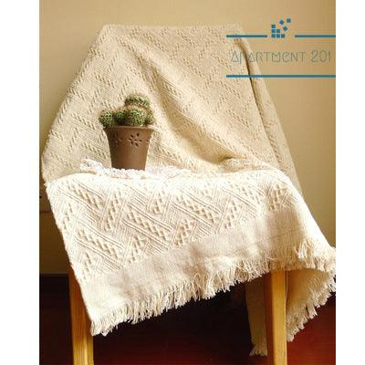 Woven Fringe Cotton Throw Blanket - apt201