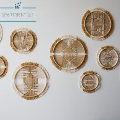 Hand Woven Macrame Hoops Wall Decor