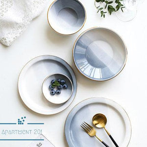 Smoky Grey Ombre Dinnerware - apt201