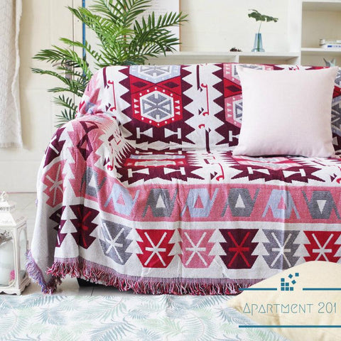 Ruby Dream Cotton Throw Blankets