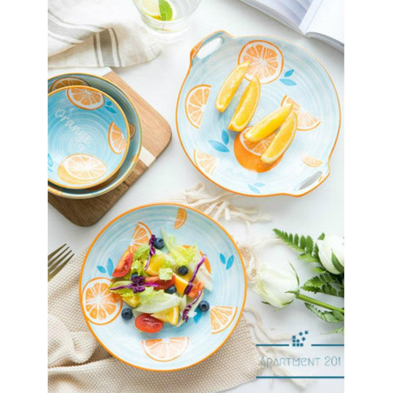Bubbly Orange Dinnerware - apt201