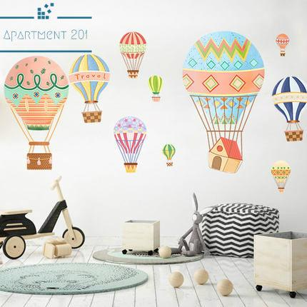 Hot Air Balloon Festival Wall Decal - apt201