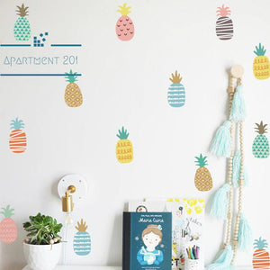 Pineapple Pop Wall Decal Set - apt201