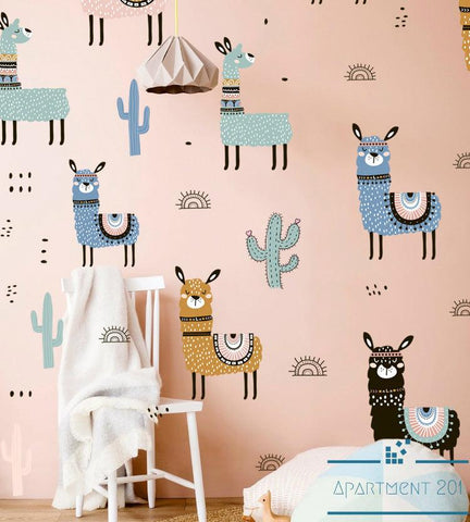 Alpaca Carnival Wall Decal - apt201
