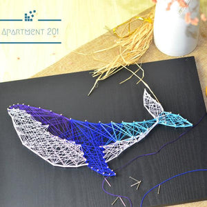 Whale String Art DIY Kit - apt201