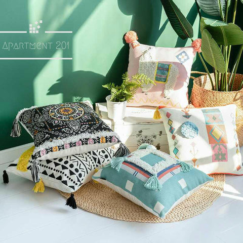 Boho Cozy Cushion Covers - apt201