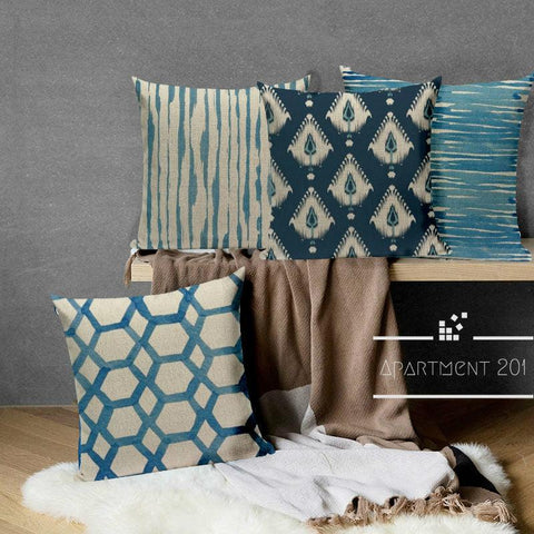 Blue Hues Nordic Styled Cushion Covers - apt201