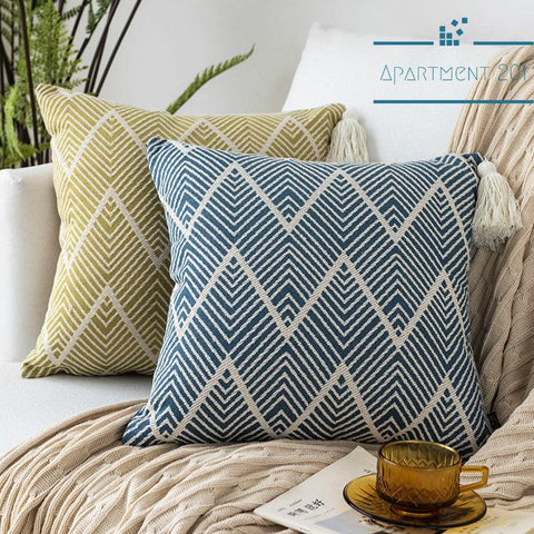 Taka Zen Embroidered Pattern Cushion Covers - apt201