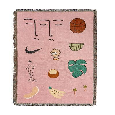 Pink Iconic Throw Blanket - Apartment 201