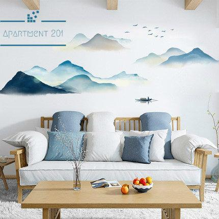 Zen Mountainscape Wall Decal - apt201