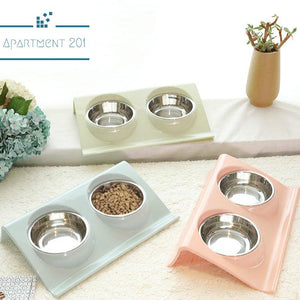 Double Food Bowl Set - Apartment 201
