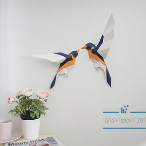 DIY Chirpy Birds Wall Decor - apt201