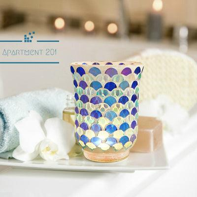 Blue Mermaid Candle Holder - Apartment 201