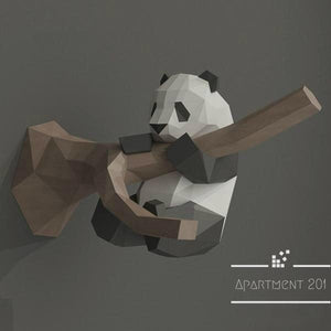 DIY Paper Craft Panda Wall Decor - apt201