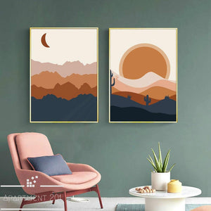 Pastel Morning Canvas Wall Art - Apartment 201