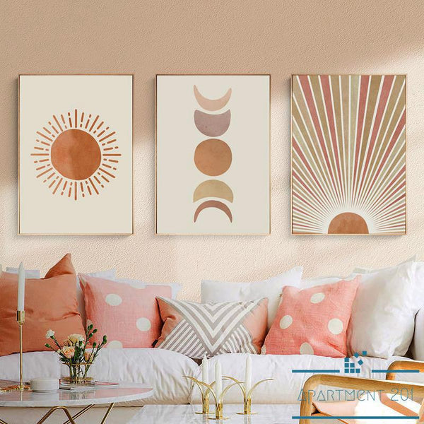 Bohemian Celestial Journey Canvas Wall Art - Apartment 201
