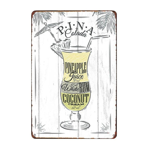 Vintage Metal Drink Plaques - Apartment 201