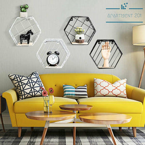 Scandi Hexagonal Wall Shelf - Apartment 201