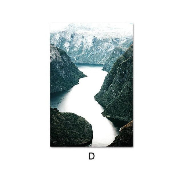 Tranquil Landscape Reflections Canvas Wall Art - Apartment 201