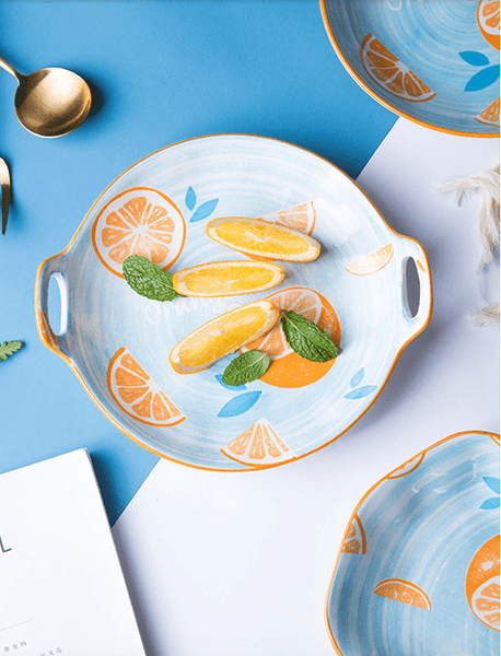 Bubbly Orange Tableware - Apartment 201
