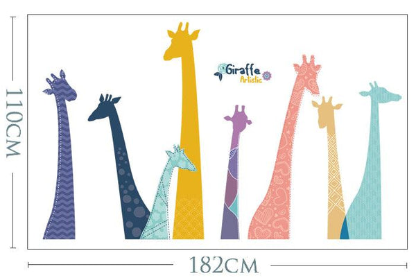 Doodly Giraffe Wall Decal - Apartment 201
