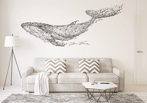 Geometric Whale Wall Decal - Apartment 201