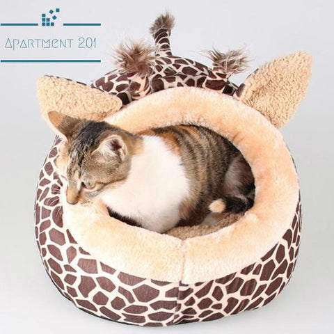 Giraffe Shaped Pet Bed - apt201