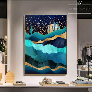Abstract Starry World Canvas Wall Art